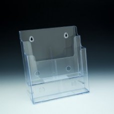 2 Tier Acrylic Countertop and Wall Mount Brochure Holder for 8.5x11 Literature Pack of 3