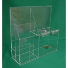 Donation Box with Brochure Holder