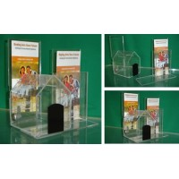 Combo - Dog House Donation Box & Add-On Brochure Holder