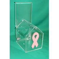 Breast Cancer Awareness - Donation Box, House Shaped