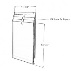 Daily Operations Plan Holder, Vertical 4 Pockets