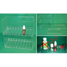 Display Cases for E-Juice, E-liquid, 18 flavors