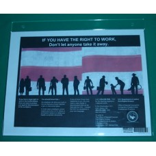 E-Verify - Right to Work, Wall-Mount Sign Holder